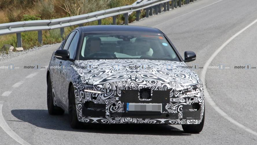 2020 Jaguar XE spied hiding its facelifted front clip