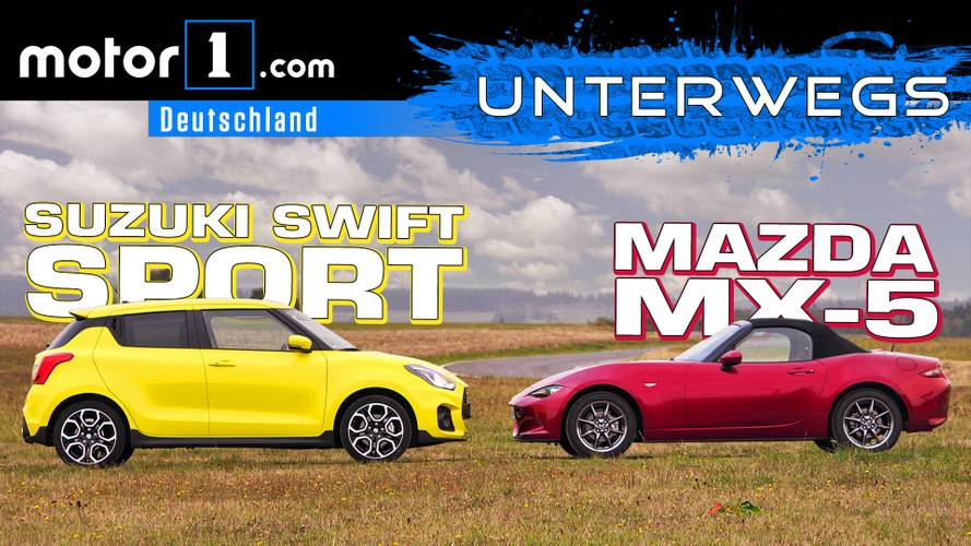 Suzuki Swift Sport vs. Mazda MX-5 | UNTERWEGS mit Daniel Hohmeyer