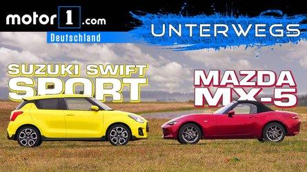 Suzuki Swift Sport vs. Mazda MX-5 | UNTERWEGS mit Daniel Hohmeyer