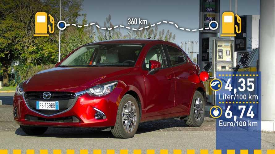 Tatsächlicher Verbrauch: Mazda 2 (90 PS) im Test