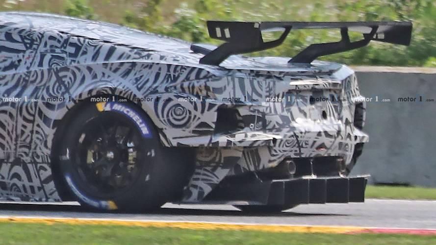 Mid-engine Corvette C8.R Race Car Spy Photos