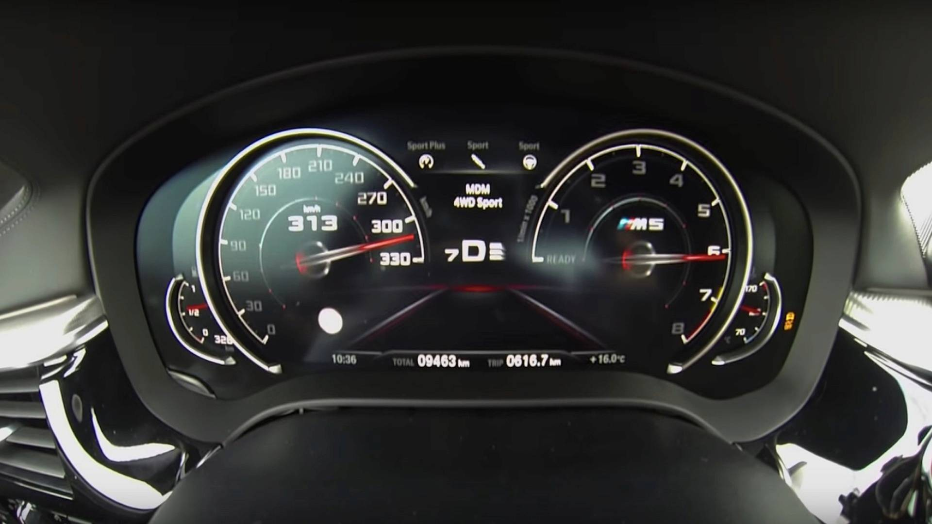 Watch The New BMW M5 Furiously Accelerate From 0 To Top Speed