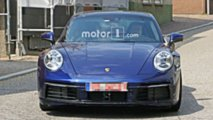 2019 Porsche 911 Kamuflajsız Casus Fotoğraflar