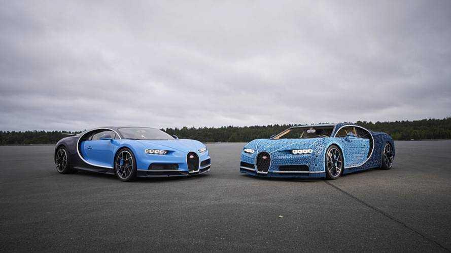 Собранный из «Лего» Bugatti Chiron выставят в Парке Горького