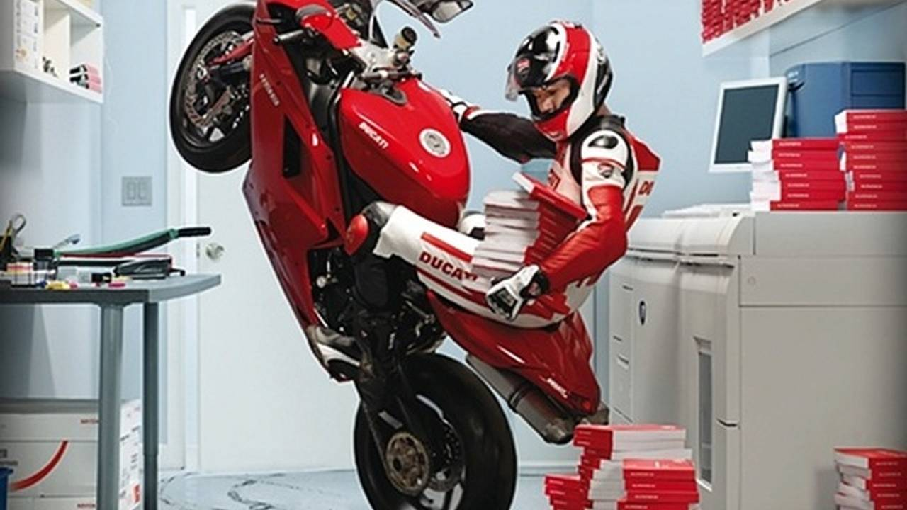 Ducati and Xerox, a match born in advertising heaven