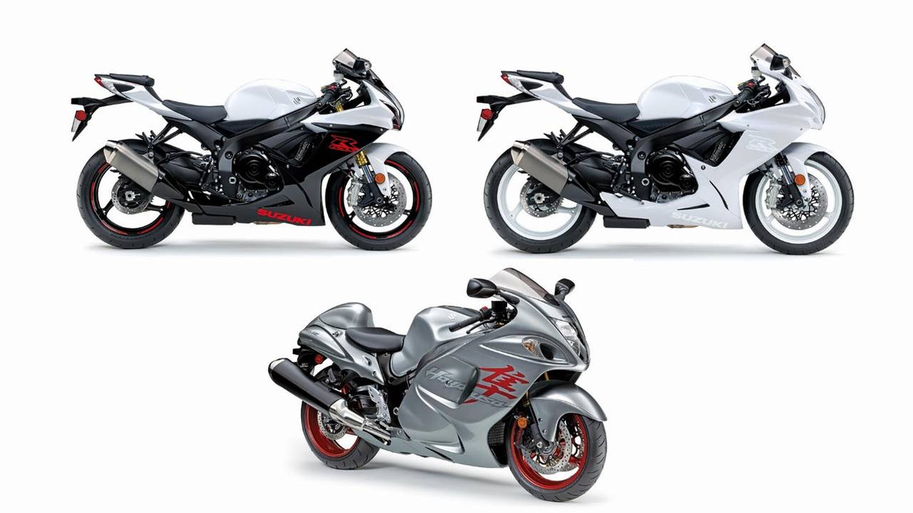 Fresh new faces: Suzuki Hayabusa, Suzuki GSX-R750, and Suzuki GSX-R600