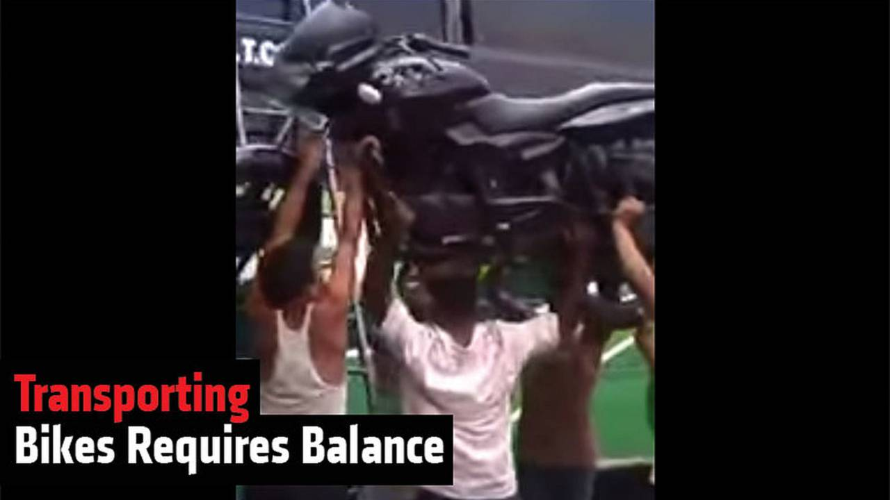 Transporting Bikes Requires Balance