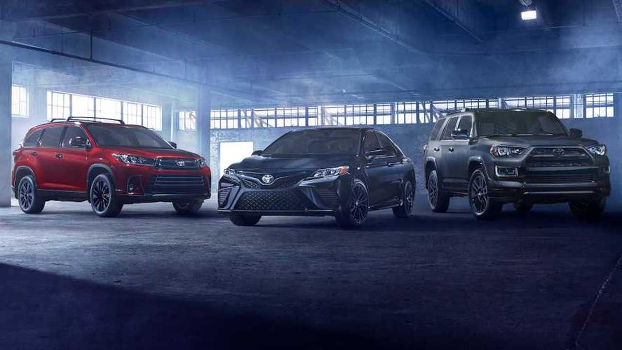 Toyota Camry and Highlander Nightshade