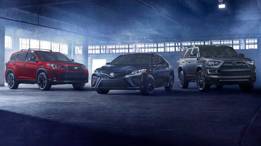 Toyota Camry and Highlander Nightshade edition