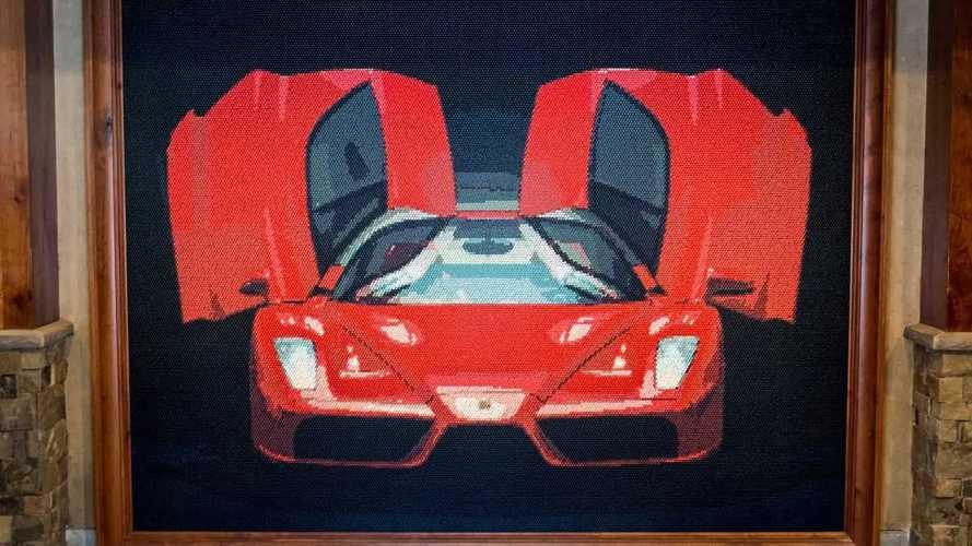 Ferrari Enzo Golf Tee Mural