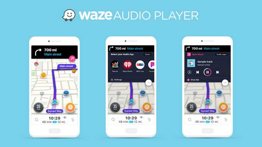 Waze, con Audio Player arriva lo streaming musicale on demand