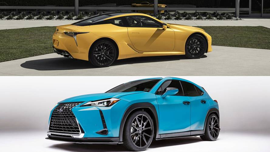 Lexus Debuts Colorful LC And UX One-Offs At Pebble Beach
