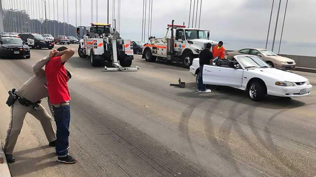 Mustang Arrest San Francisco Bridge