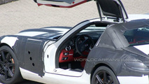 Mercedes SLS AMG Gullwing spy photo at Nurburgring