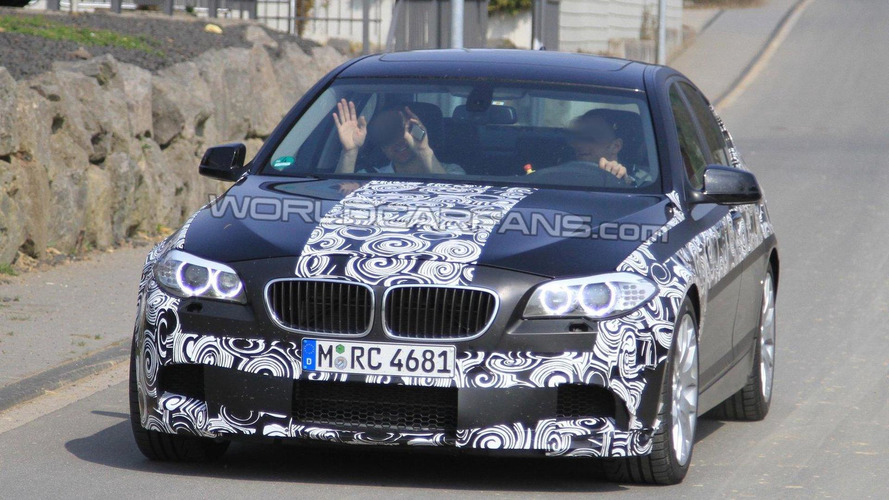 2011 BMW M5 F10 latest spy photos near Nurburgring