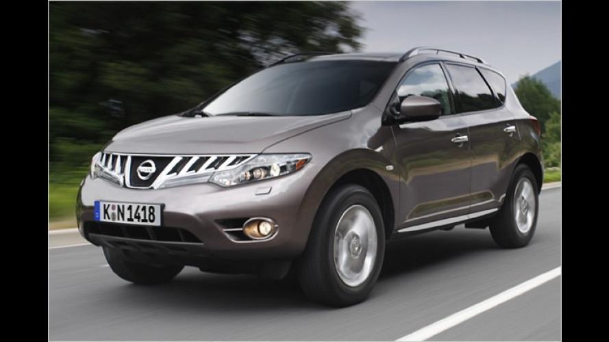 Automobilhersteller Nissan verpasst dem Murano ein Facelift