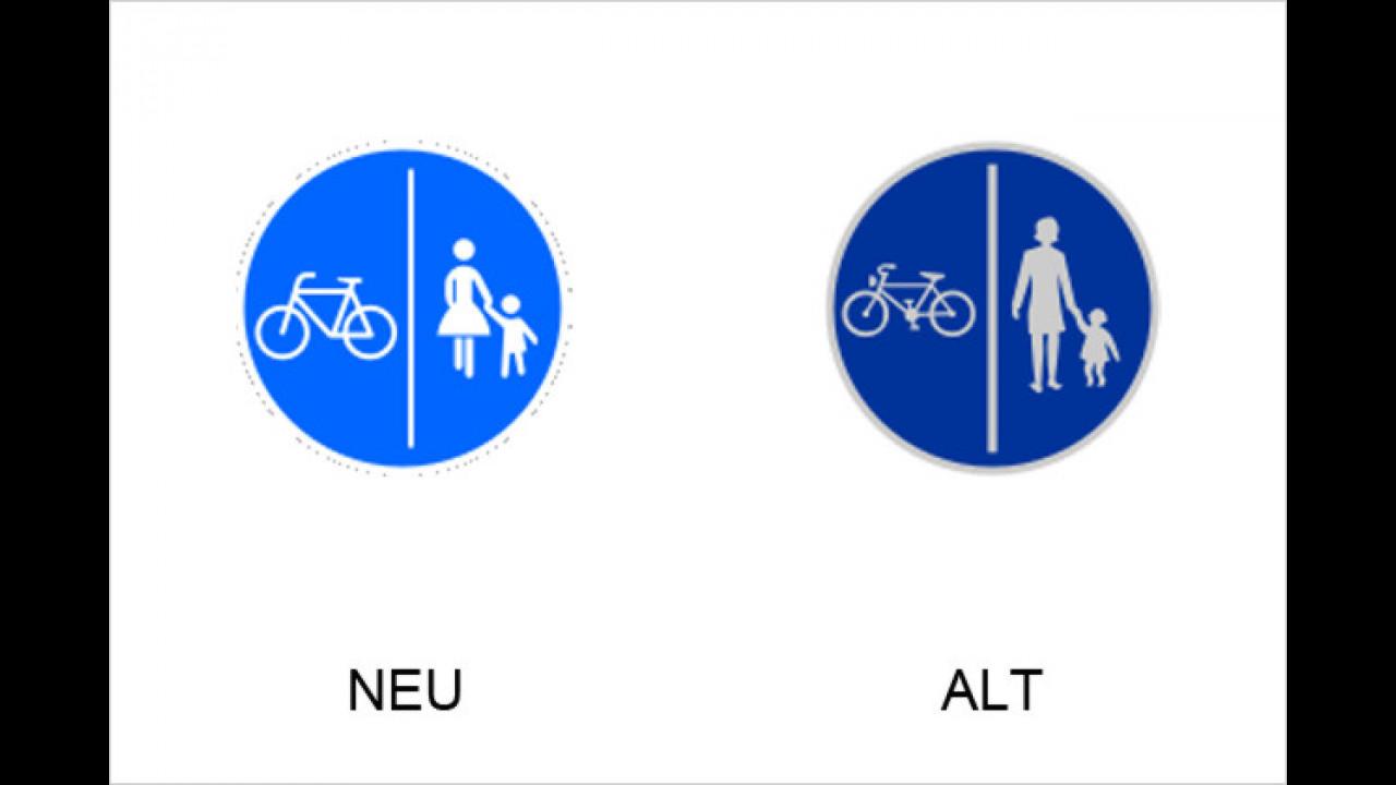 Getrennter Rad- und Fußweg