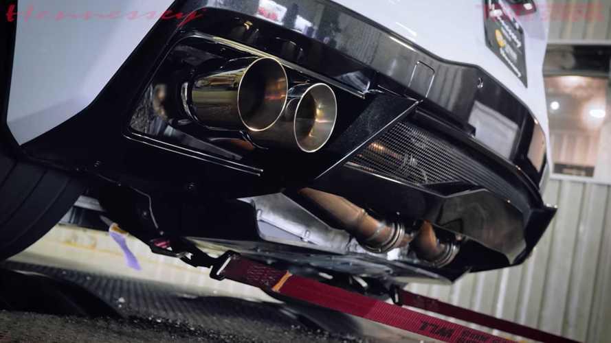 Brutális hangja van a Hennessey Corvette C8-ára szerelt kipufogónak