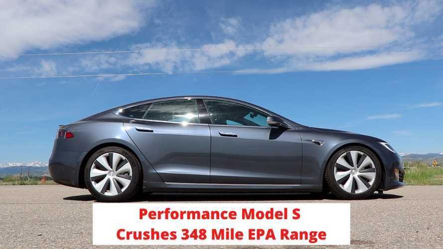 Tesla Model S Performance Beats 348-Mile EPA Range Estimate