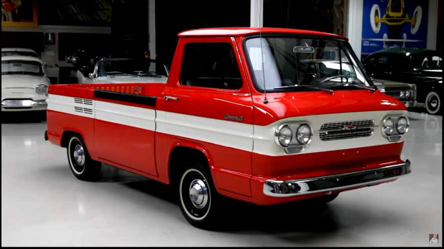 Rare 1961 Chevy Corvair Rampside Truck Visits Jay Leno's Garage