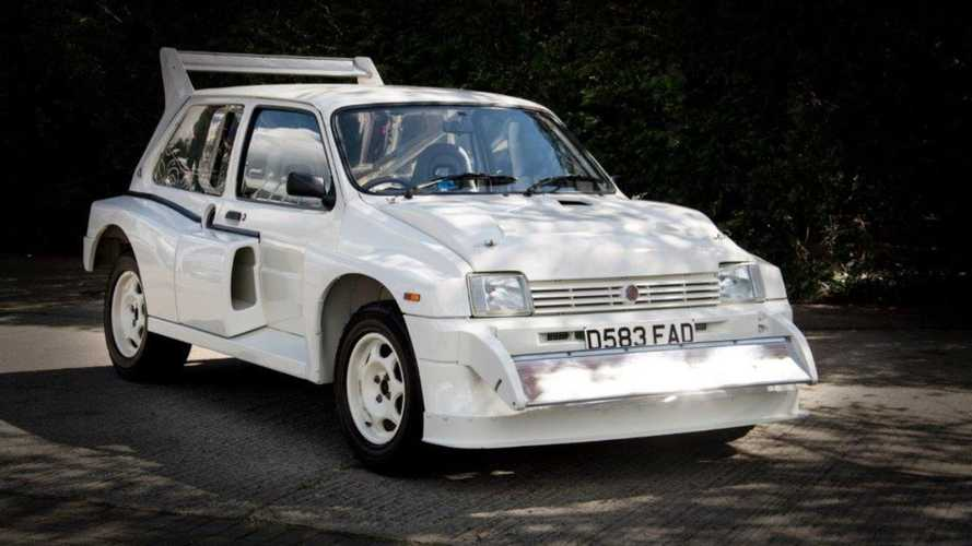 The MG Metro 6R4 Group B car that belonged to an F1 team