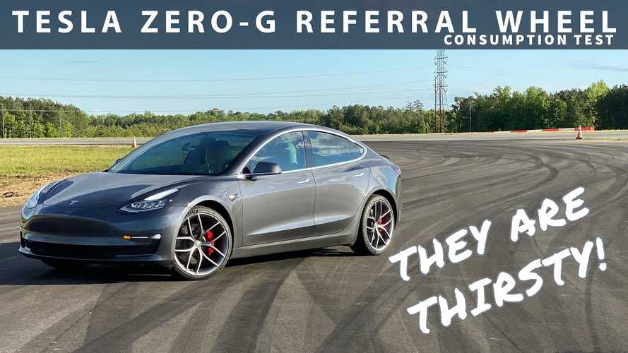 Tesla Model 3 Consumption Test With New Zero-G Referral Wheels