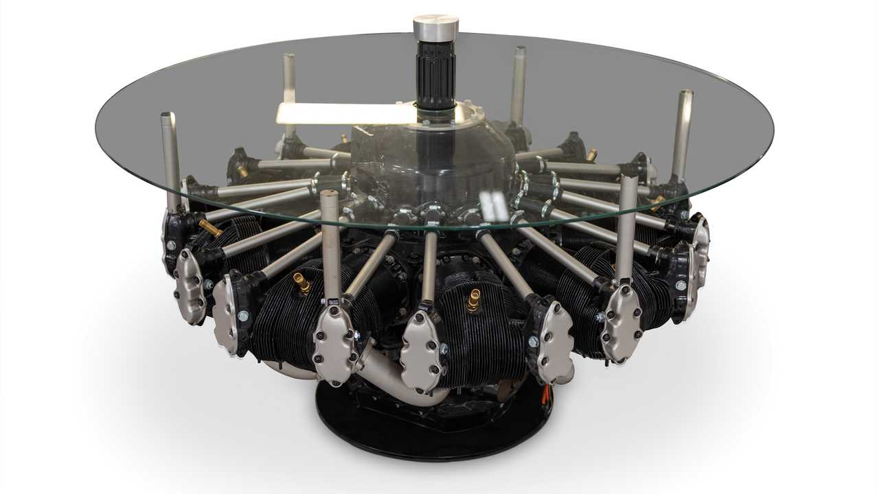 B-17 Flying Fortress Engine Coffee Table