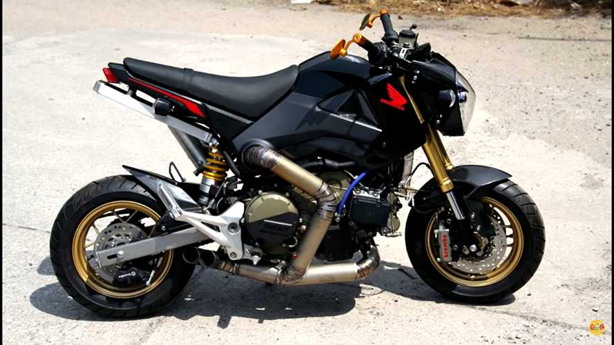 Madman Sticks Ducati 1199 Panigale R Engine Inside Honda Grom
