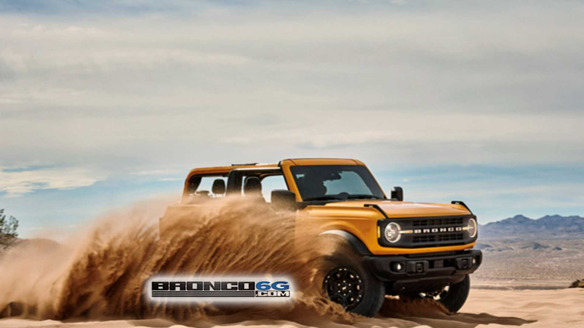 2021 ford bronco leaked showing off lack of roof and doors