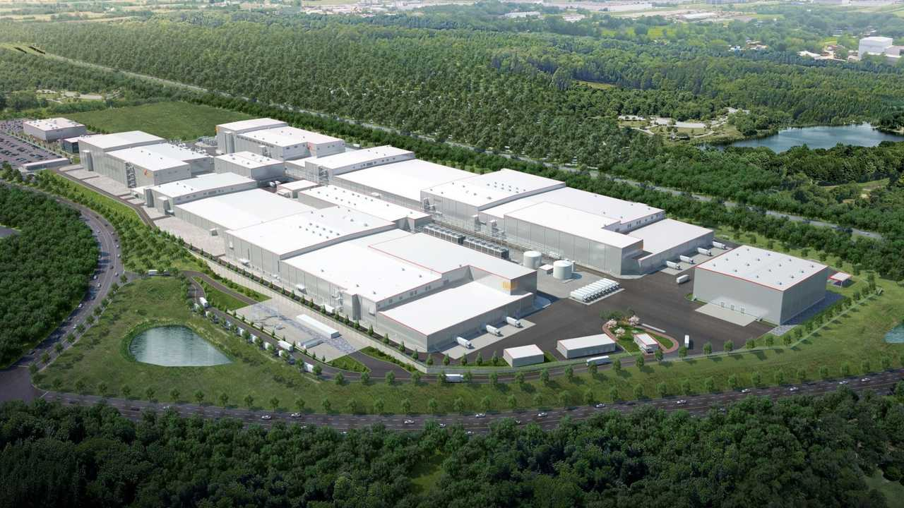 SK Innovation has increased investment plans for its Georgia EV battery site, shown here in a rendering.