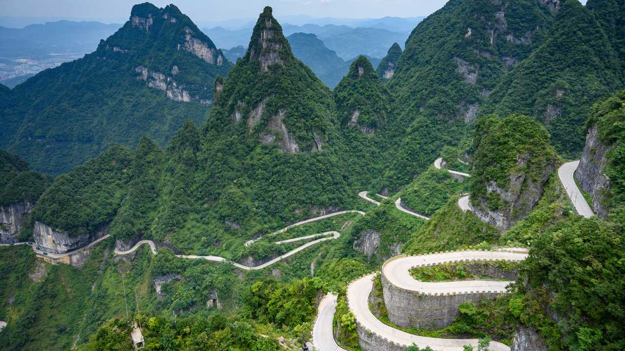 Tian Men Shan Big Gate Road (China)