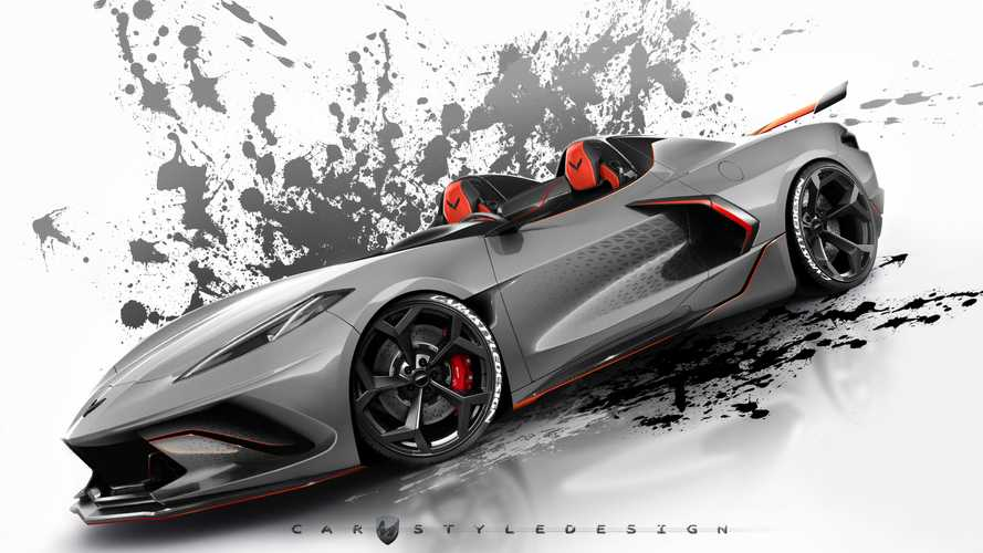 Corvette C8 Roadster and widebody renderings