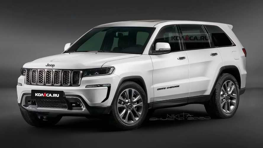 2021 Jeep Grand Cherokee Rendered Showing Sharper Styling