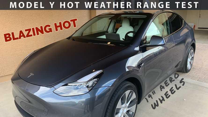 Tesla Model Y Hot Weather Desert Range Test At 70 MPH
