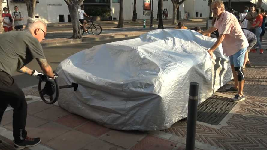How Do You Steer A Hypercar That's Under A Cover?