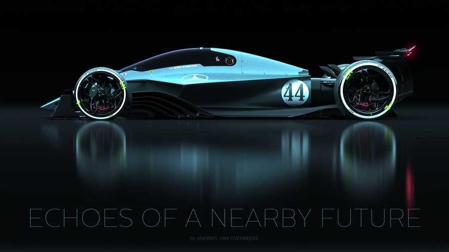 Izgalmas renderképeken képzelték el a Mercedes jövőbeli Forma-1-es autóit
