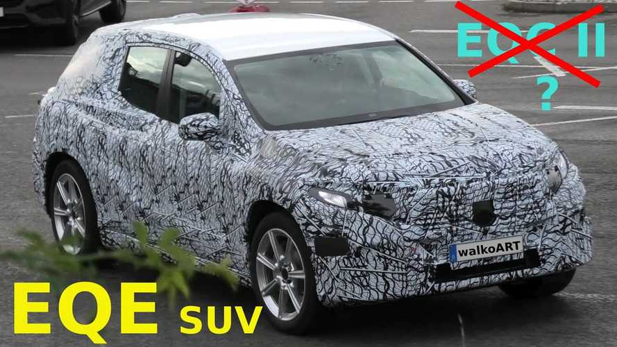 Mercedes-Benz EQC Or EQE Prototype Spotted On The Move In Germany