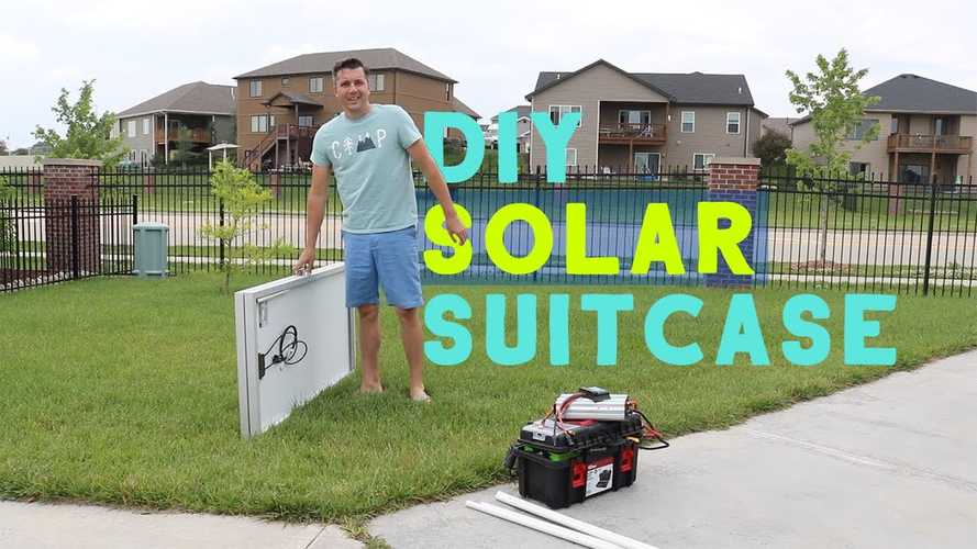 Check Out This Homemade Solar Suitcase For Camping With The Tesla Model X