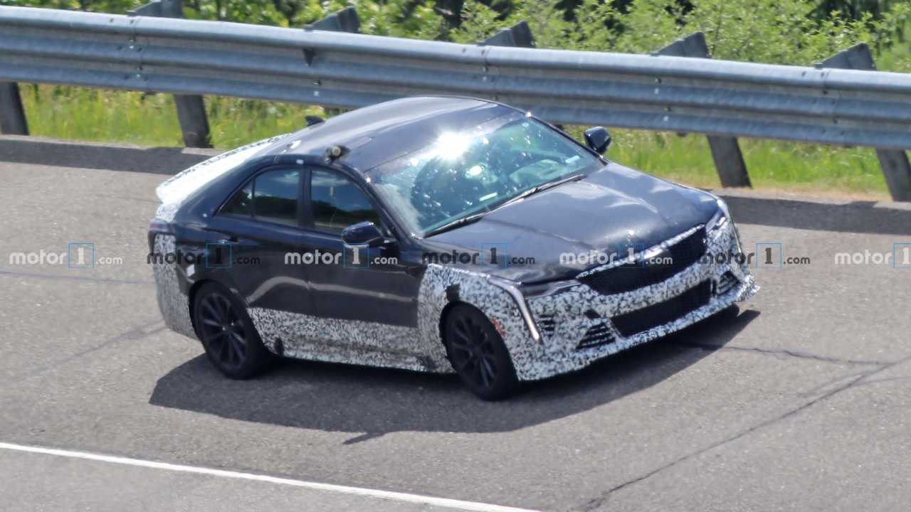 2021 Cadillac CT4-V Blackwing spy photo