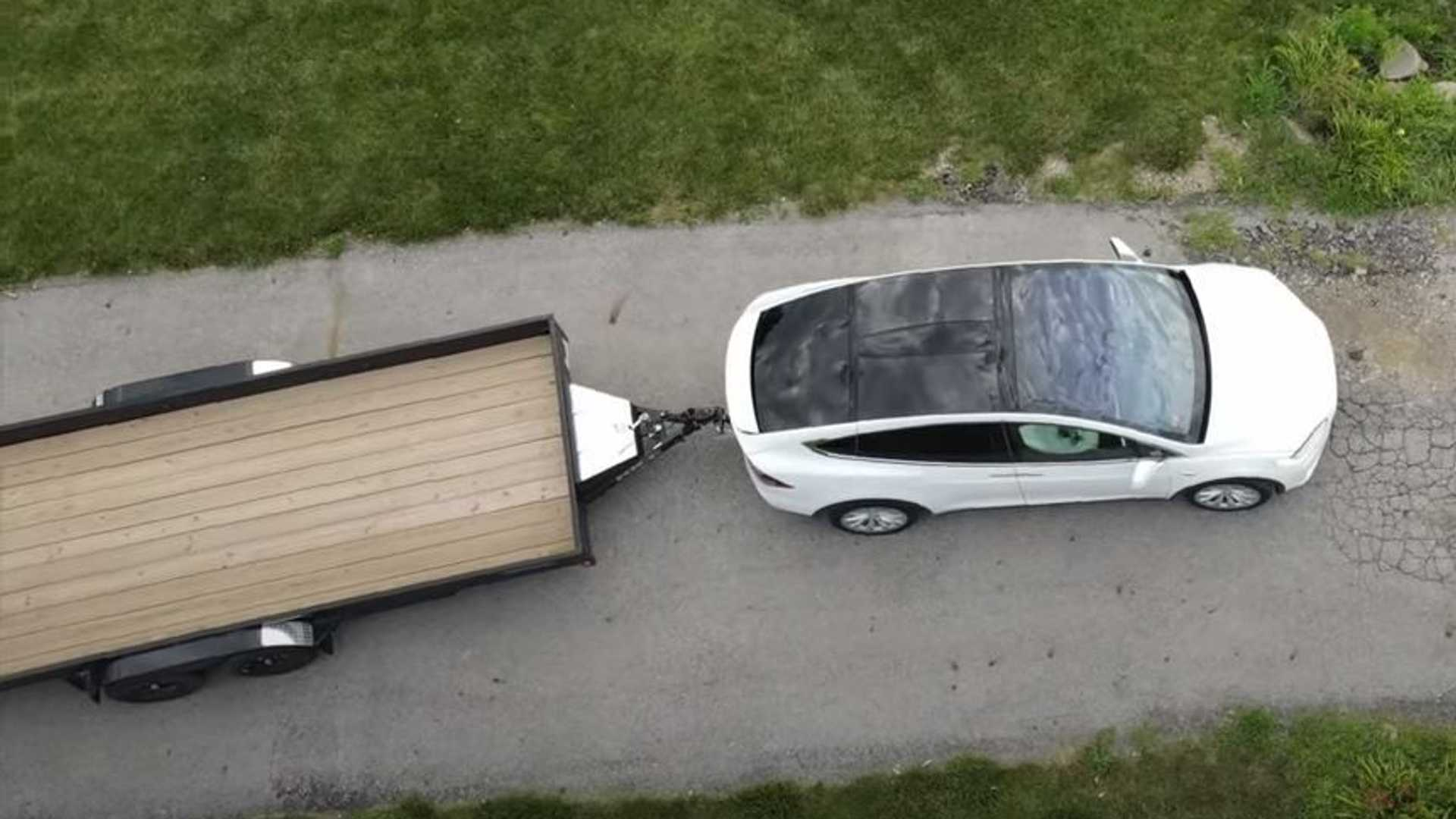 Tesla Model X Flatbed Trailer Towing How Does It Compare To A Camper