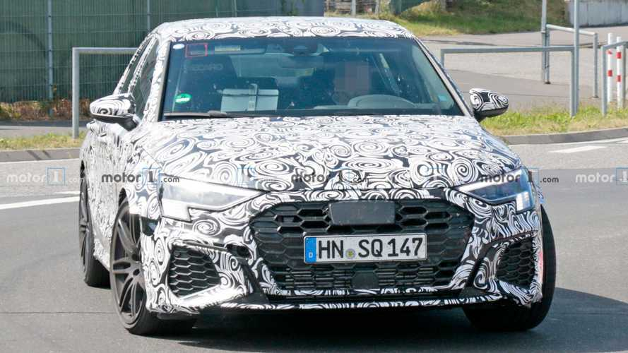 Audi RS3 Saloon spied looking almost ready for production