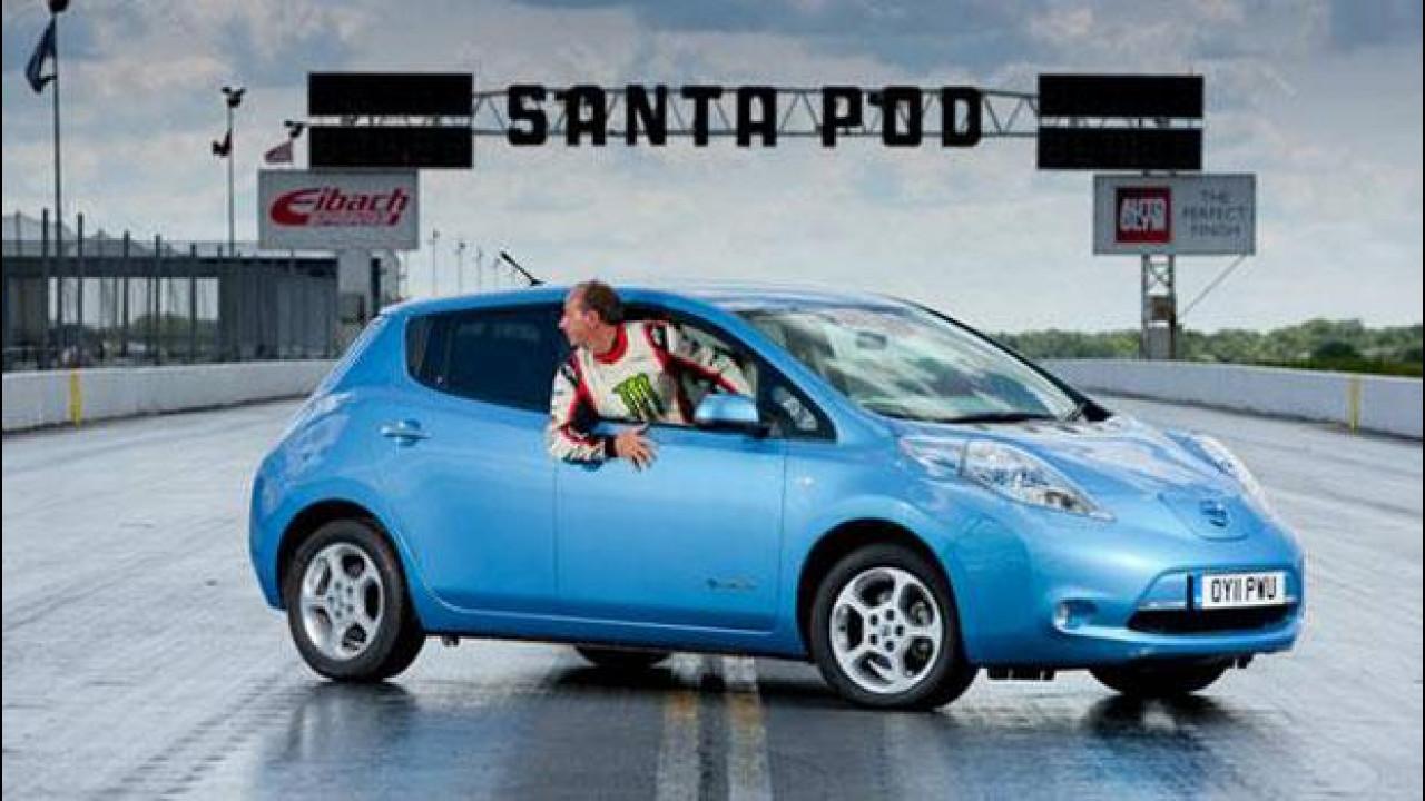 [Copertina] - Nissan Leaf a tutta velocità... in retromarcia