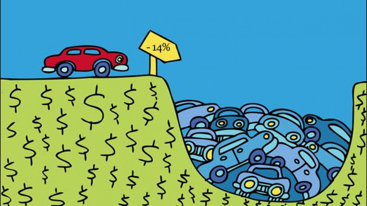 [Copertina] - Quest'anno il mercato dell'auto chiuderà a -14%