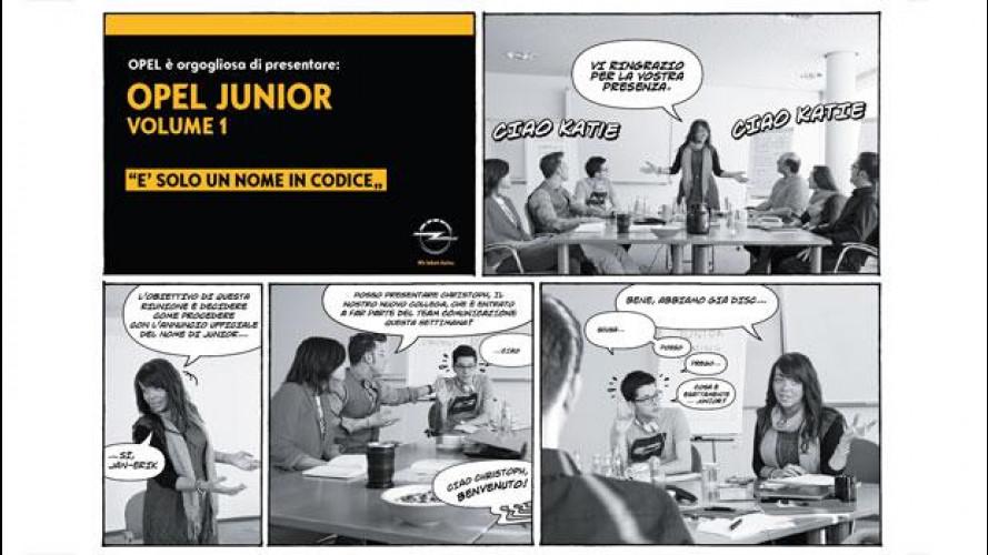 Opel Junior, il fumetto teaser