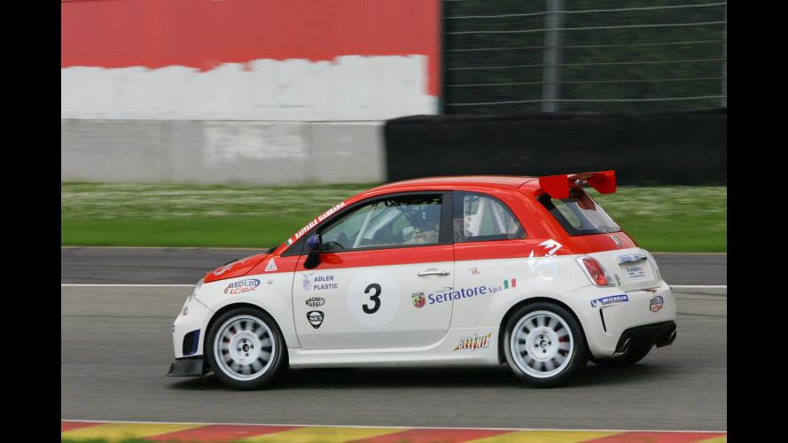 In pista con la 500 Abarth Assetto Corse