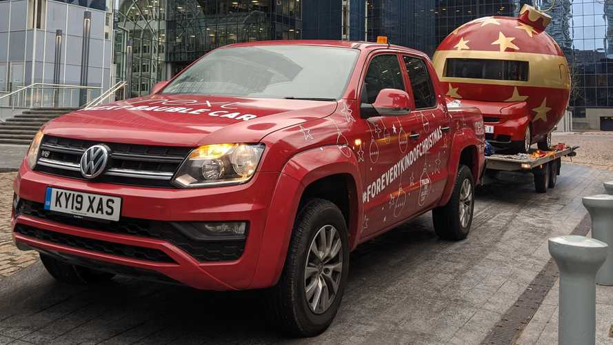 Volkswagen Amarok Towing Giant Bauble Across The U.K.
