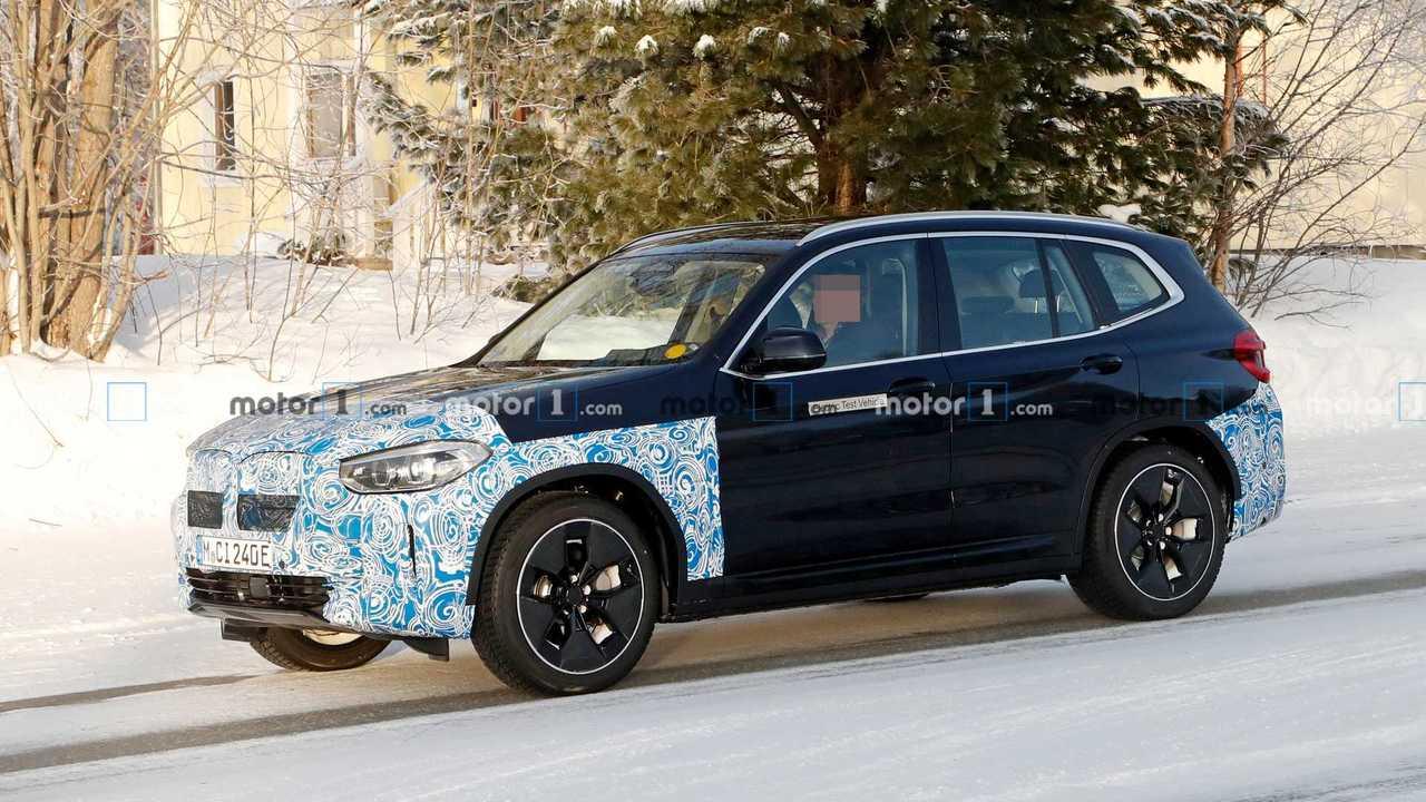 2021 BMW iX3 new spy photo