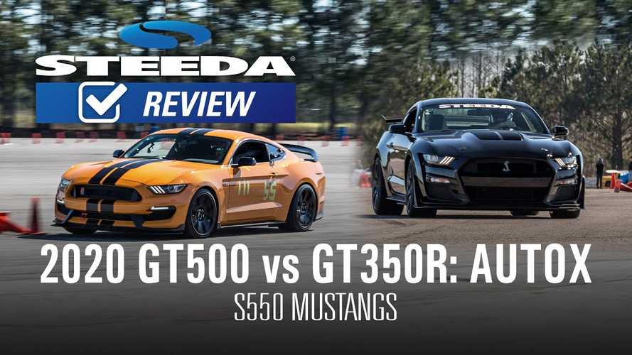 Mustang Shelby GT500 Takes On GT350R In Autocross Showdown