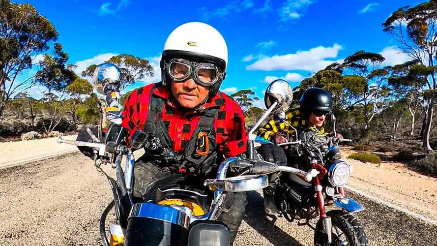 Madmen Ride Honda Monkeys Across Australia