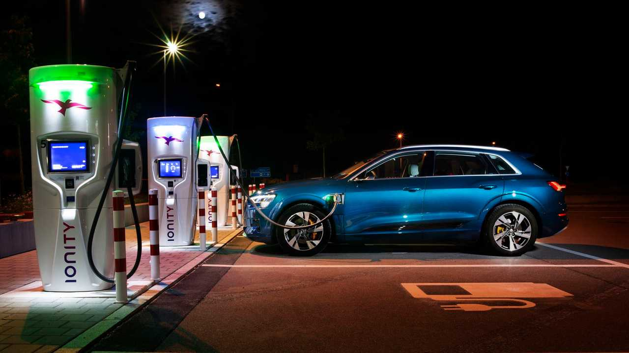 Audi e-tron at the IONITY fast charging station